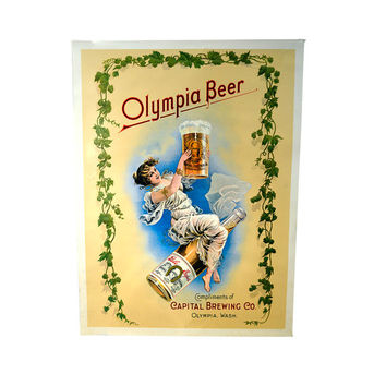 Vintage Capital Brewing Co Olympia Beer Poster by BananasDesign