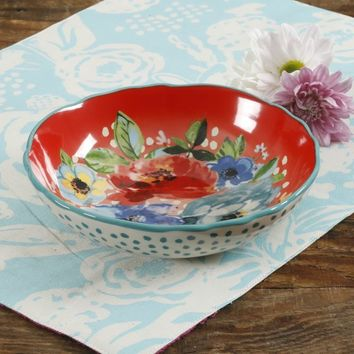 The Pioneer Woman Melody Coral 7.5-Inch Pasta Bowl - Walmart.com