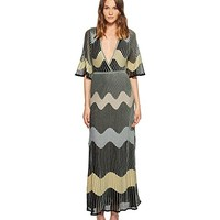 M Missoni Lurex Wave Intarsia Maxi Dress
