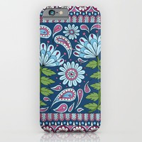 Evening Blue Floral iPhone & iPod Case by Sarah Oelerich