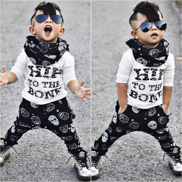 Toddler Kids Baby Boys Casual T-shirt Tops + Pants Outfits Clothing Set 2pcs