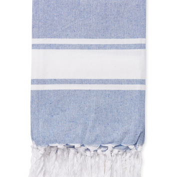 Melange Home Yarn Dyed Chambray Blanket Throw - Blue