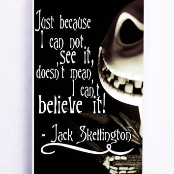 The Nightmare Before Christmas Quotes Jack Skellington For Iphone 5 / 5s  Hard Cover Pl