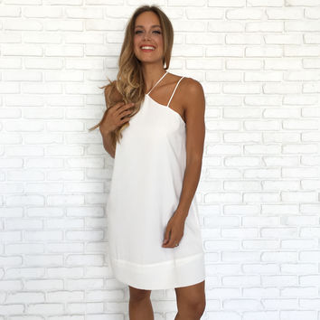 Shifting Gears White Dress