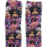 Living Royal Galaxy Puppy Crew Socks