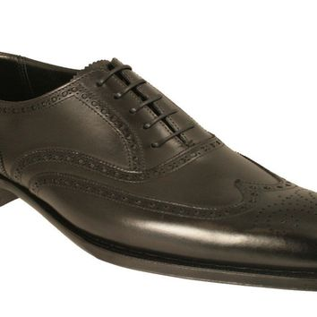Wakeby Wolf Formal Black Oxford Wingtip Leather Shoes