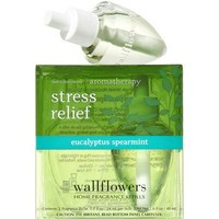 Bath & Body Works EUCALYPTUS SPEARMINT Aromatherapy Wallflowers 2-Pack Home Fragrance Refills