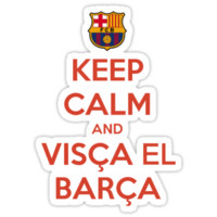 Keep Calm and Visca el Barca by ntsu style