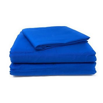 Tache Cotton Deep Blue Fitted Sheet (BS3PC-B)