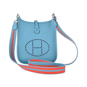 HERMES EVELYNE TPM MINI TURQUOISE WITH AMAZONE STRAP JaneFinds