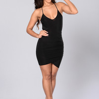 Ladies Night Dress - Black