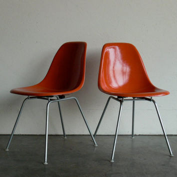 Eames for Herman Miller H-Base Side Chair-DSX (Set of 2)