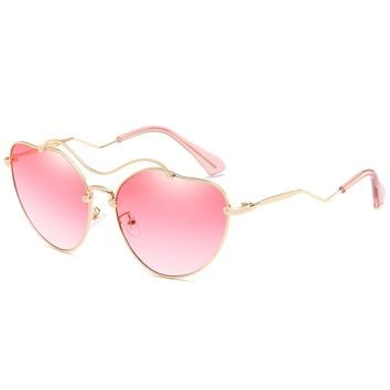 Unique Irregular Heart Shaped Sunglasses