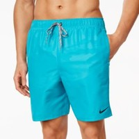 Nike Solid Volley Swim Trunks | macys.com