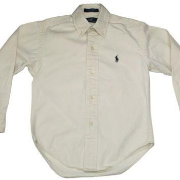 Cream Ralph Lauren POLO Shirt