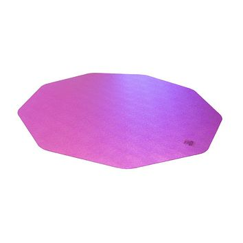 "Cleartex 9Mat Ultimat Polycarbonate Chair mat for Hard Floor in Cerise Pink (38"" X 39"")"