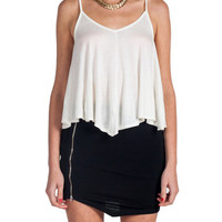 Simple V-Neck Tank Top - Ivory