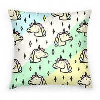 Cute Pastel Unicorn Pillow