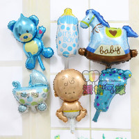 6pcs/lot Baby girl Helium Foil Balloons Baby Shower Balloon Kid Baby Boy Birthday Party Decoration Baby 1 Year Birthday supplies