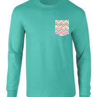 Alpha Xi Delta Long Sleeve Pocket Tee