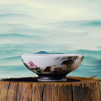 Handcrafted Porcelain Teacup, Chinese Teacup Gift