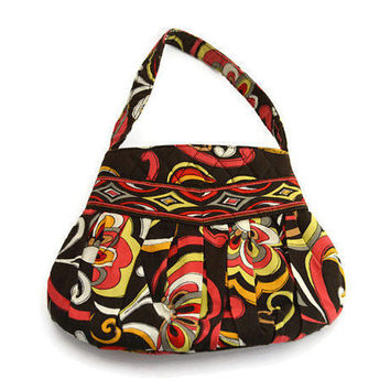 Retired VERA BRADLEY Puccini Hannah Bag Small Hobo Pleated Shoulder Bag Purse Handbag
