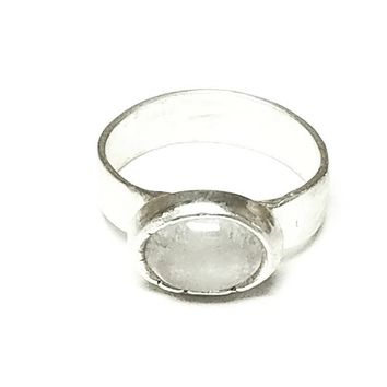 Pure Silver Metal Clay Ring with CZ