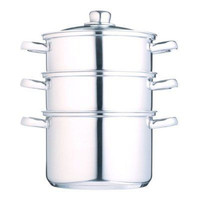 KitchenCraft Clearview Stainless Steel 3 Tier Steamer