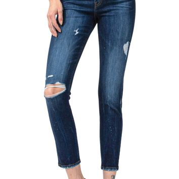 Flying Monkey Jeans Love Game High Rise Exposed Button Fly Ankle Skinny