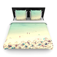 "Ingrid Beddoes ""Happy Summer"" Beach Woven Duvet Cover"