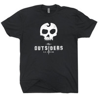 The Outsiders T Shirt Vintage Soft 80s movie T Shirt Book reading Tee Skull mens / women's T Shirt
