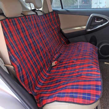 Pet Supplies Classic Plaid Dog Carriers Car Seat Cover Durable Puppy Cats Car Blanket Hammock Dog Cushion Protector for Travel