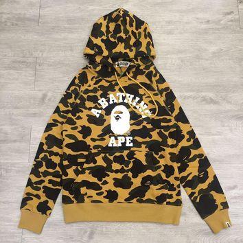 hcxx A Bathing Ape 1st Camo College Hoodie