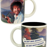 Happy Bob Ross Self-Painting Mug