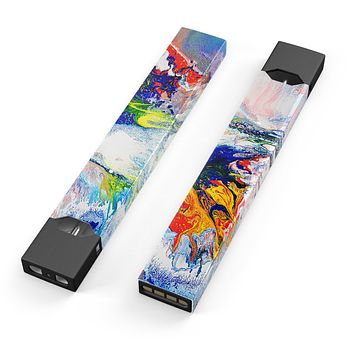 Skin Decal Kit for the Pax JUUL - Bright White and Primary Color Paint Explosion