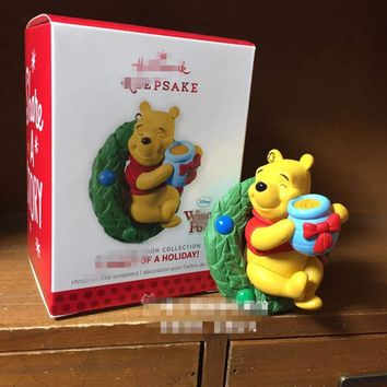 Original 1pcs mickey mouse club house mickey and bear Action Figure Collectible Model Toy with original box