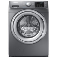 Shop Samsung 4.2-cu ft High-Efficiency Stackable Front-Load Washer (Platinum) ENERGY STAR at Lowes.com