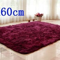 Cheapest 40x60cm area rug for living room shaggy soft yoga mat bedside carpet