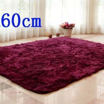 Cheapest 40x60cm area rug for living room shaggy soft yoga mat bedside carpet = 1932175172