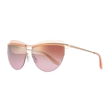Christian Roth The Affair Sunglasses, Rose - Barton Perreira