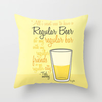 Tv drink quotes [how i met your mother] Throw Pillow by Fabio Castro