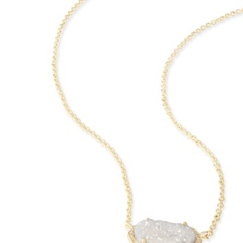 Elisa Gold Pendant Necklace in Teal Drusy | Kendra Scott