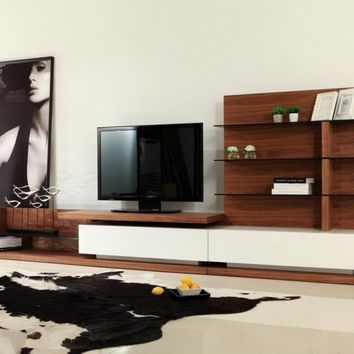 Modern White High Gloss TV Unit