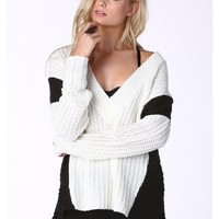 Sylvia V-Neck Knit Sweater