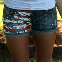 All American Girl Shorts: Denim - Off the Racks Boutique