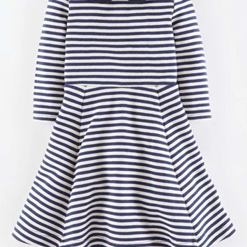 Girl's Mini Boden Texture Ponte Skater Dress,