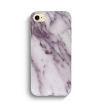 White Carrara Marble II - iPhone 7 Case