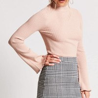 Houndstooth A-Line Mini Skirt