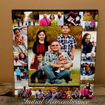 Personalized Picture Frame Collage Father's Day Unique Baby's First Year Picture Frame Maid of Honor Photo Collage Frame 1st time Daddy Dad