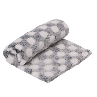 Pet Blanket Kitten Cat Bed Pad Cute Animal Gift Warm Soft Flannel Mat